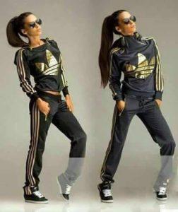 Chándal mujer Adidas, color dorado