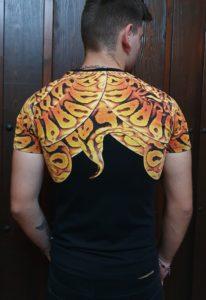 Camiseta Philipp Plein amarilla, espalda