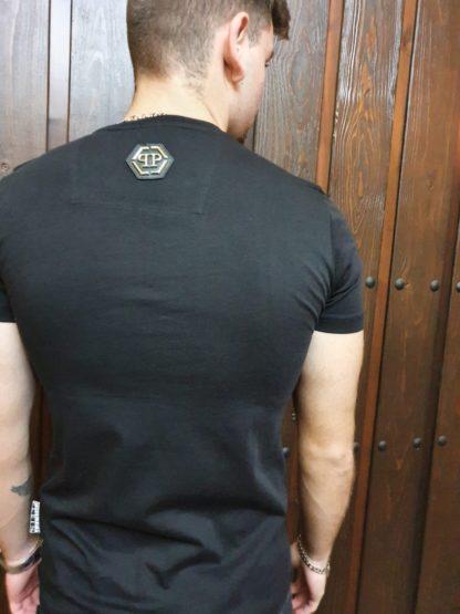 Camiseta Philipp Plein con cristales Swarosvki, espalda